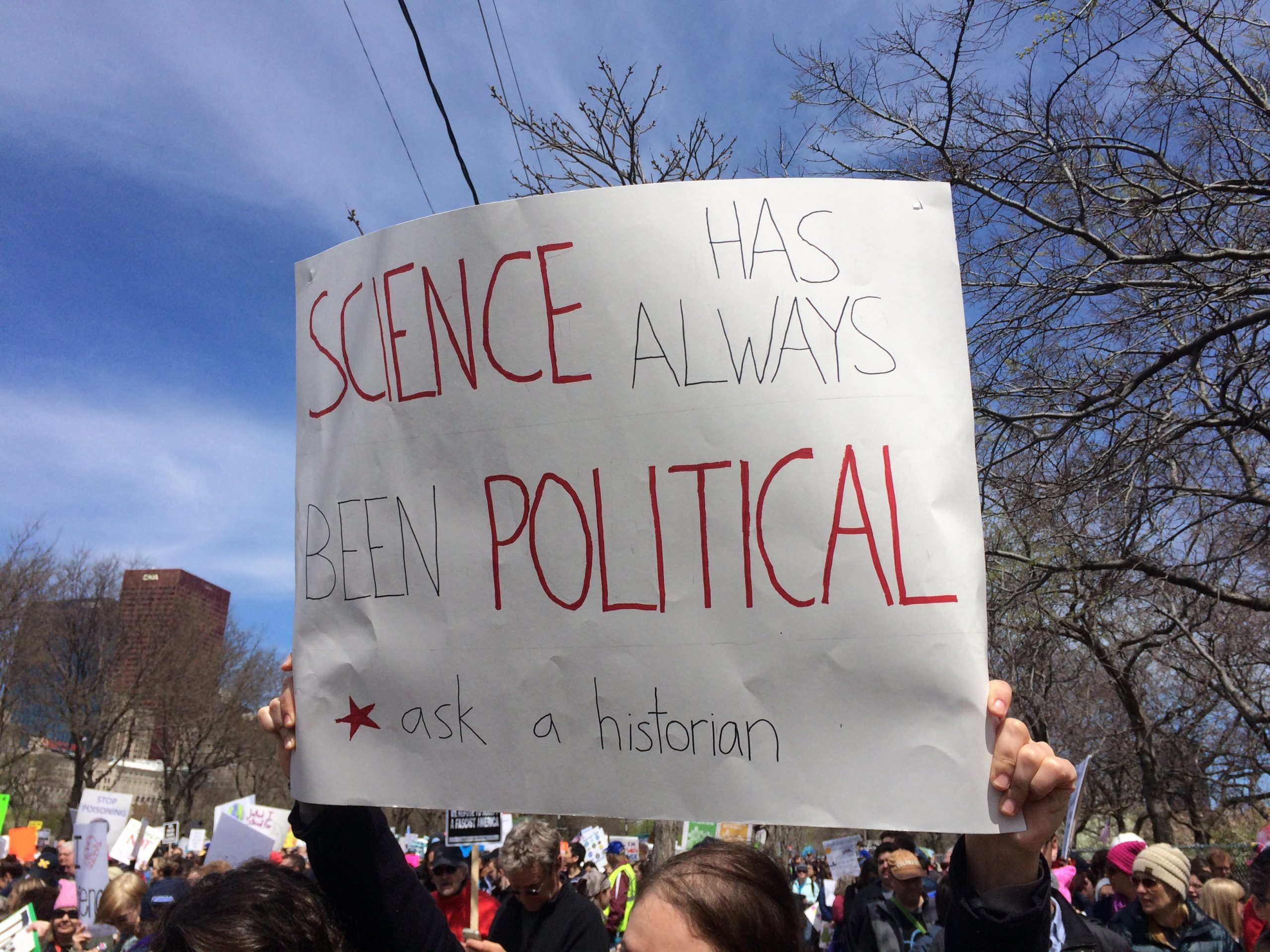 A sign from the March for Science Chicago. Photo by Laura Ray.