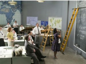 "Katherine Johnson (Taraji P. Henson) making the math that made John Glenn's space flight possible in ""Hidden Figures."" (Fox)"